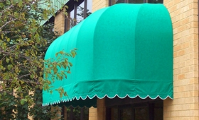Convex Awning with Bullnose Ends - Parma, Ohio