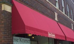 Rigid Storefront Awning with Valance - Lakewood, Ohio