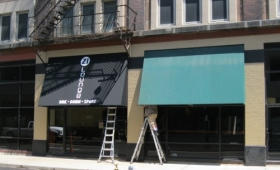 Rigid Awnings - Downtown Cleveland, Ohio