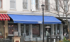 Retractable Storefront Awning - Downtown Cleveland, Ohio
