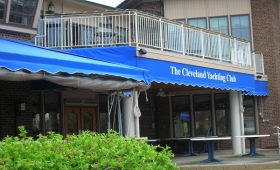 Stationary Awning with Roller Curtains - Rocky River, Ohio