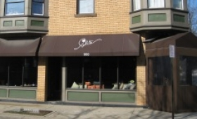 Rigid Storefront Awnings with Entrance Winter Curtains - Cleveland, Ohio