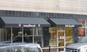 Rigid Storefront Awning - Downtown Cleveland, Ohio