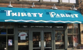 Rigid Patio Awning - Downtown Cleveland, Ohio