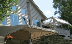 Stationary Patio & Porch Awning - Rocky River, Ohio